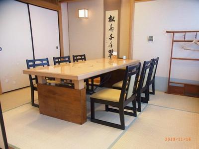 ◆和室のイス・テーブル個室 6名様迄 (上毛の山々が一望出来ます)