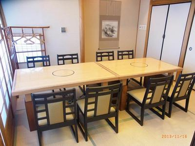 ◆和室のイス・テーブル個室8名様迄(上毛の山々が一望出来ます)