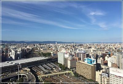 新大阪ワシントンホテルプラザ銀座は23F 最上階で営業しております【お昼の景色】