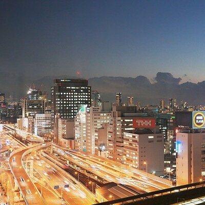 新大阪ワシントンホテルプラザ銀座は23F 最上階で営業しております【夜の景色】