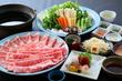 国産上選牛肉と榛名もち豚の食べくらべ しゃぶしゃぶ 飲み放題付 6,000円コース