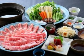 ◆国産牛肉と榛名もち豚の食べくらべコース しゃぶしゃぶ または すき焼き   【飲み放題付】6,000円(税込)~
