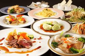 スカイルームは美味しい洋食料理が自慢♪ (料理は季節ごとに内容が替わります)