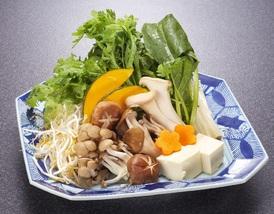 しゃぶしゃぶの野菜を季節ごとに替えております。 ※画像はイメージ
