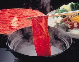 ◆秋野菜としゃぶしゃぶ ※お鍋を囲みながらしゃぶしゃぶをお召し上がりいただきます。