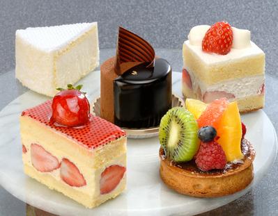 プチケーキはホテルメイドのこだわりの味。