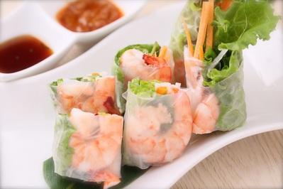 「海老の生春巻」 プリプリ海老とシャキシャキ野菜。おすすめです。